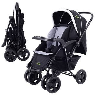 Two Way Foldable Baby Kids Travel Stroller Newborn Infant Pushchair Buggy Black|https://ak1.ostkcdn.com/images/products/is/images/direct/54d6a8598002471c4080097531e21204d4aec4cd/Two-Way-Foldable-Baby-Kids-Travel-Stroller-Newborn-Infant-Pushchair-Buggy-Black.jpg?impolicy=medium