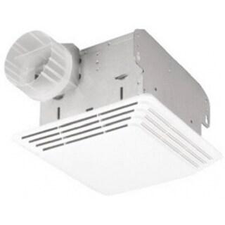 Broan 678 Combaination Bathroom Fan & Light, 50 CFM, White Plastic Grille