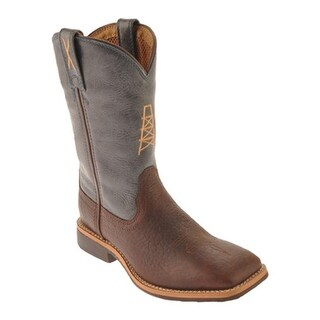 Twisted X Boots Children's YCW0003 Oiled Cognac/Blue Leather