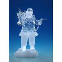 "8.5"" Musical Standing Santa Claus Reading the Naughty or Nice List - CLEAR"