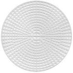 "Plastic Canvas Shape 7 Count 6""-Circle Clear"