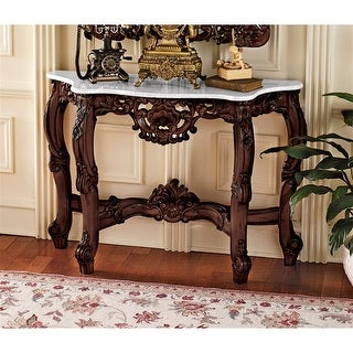 Design Toscano The Royal Baroque Marble-Topped Console Table - 47 x 15 x 33