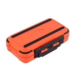 Unique Bargains Fishing 30 Compartments Fish Hook Bait Storage Box Case Fishhook Holder Orange