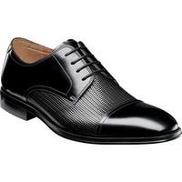 Florsheim Men's Belfast Cap Toe Oxford Black Leather
