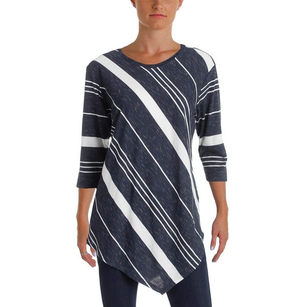 567b7d7e16976 Shop Two by Vince Camuto Womens Tunic Top Striped Asymmetric - Free  Shipping On Orders Over  45 - Overstock.com - 20001375