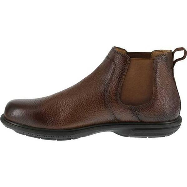 53a34850d0c Shop Florsheim Work Men's FS2031 Loedin Steel Toe Chelsea Boot Brown ...