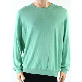 Club Room NEW Green Men's Size Large L Knitted Crewneck Stretch Sweater