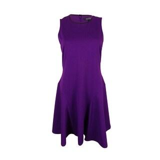 Ralph Lauren Women's Crewneck Sleeveless Dress - brilliant purple