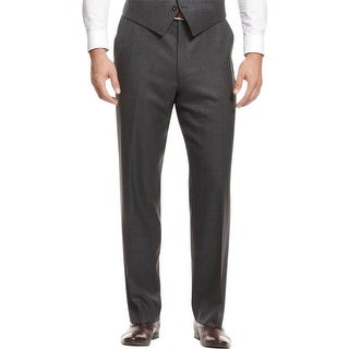 Shaquille O'Neal Mens Dress Pants Wool Flat Front