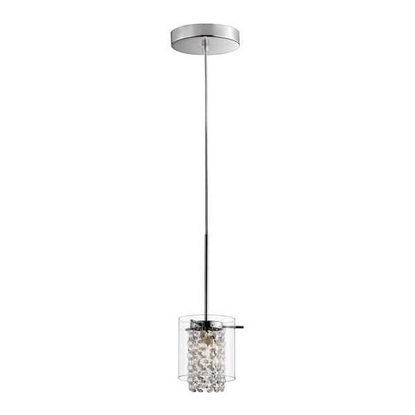 glam lighting. Bazz Lighting PR3811CB Glam Series Single-Light Mini Pendant, Finished In  Chrome With Glass Glam Lighting