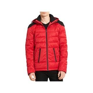 Calvin Klein Mens Puffer Coat Winter Quilted - M