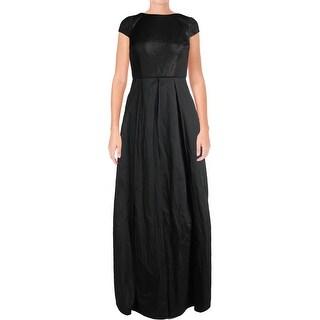 Adrianna Papell Womens Evening Dress Cap Sleeveless A-Line