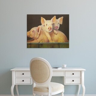 Easy Art Prints Carolyne Hawley's 'Life as a Pig III' Premium Canvas Art