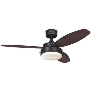 "Westinghouse 7201900 Alloy 42"" 3 Blade Hanging Indoor Ceiling Fan with Reversibl"