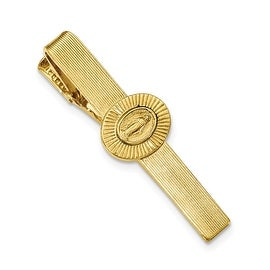 14k Gold IP Mother Mary Tie Clip