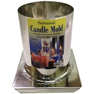 "Round 3""X4"" - Professional Metal Candle Mold"