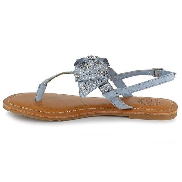 Mojo Moxy Womens Dolce Fabric Open Toe Casual T-Strap Sandals - 8