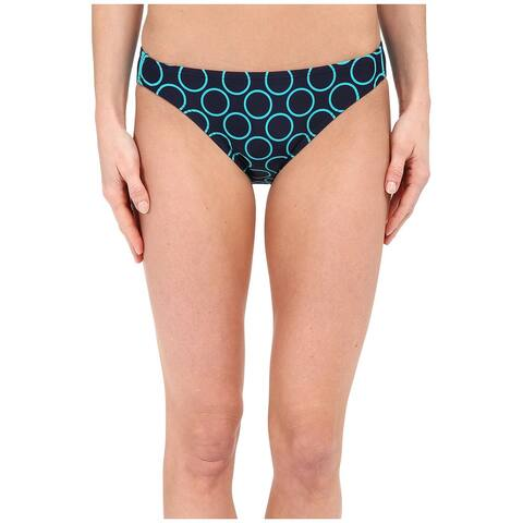 DKNY Women's Swimwear Blue Size XS Printed Hipster Bikini Bottom