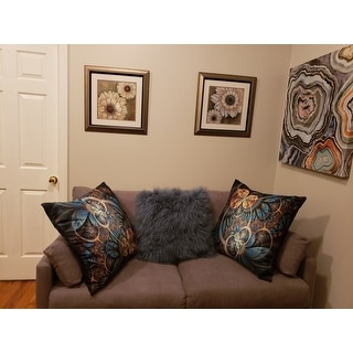 Wool Mongolian Lamb Fur 12 x 20 Decorative Throw Pillow