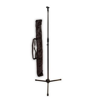 Podium Pro MS2 Steel Microphone Stand with EZ Mic Clip and Stand Bag MS2SET8