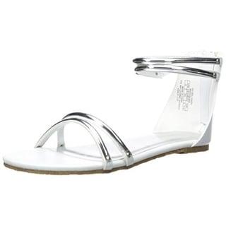 Ivanka Trump Girls Golden Sandal Ankle Wrap Flat Sandals - 1
