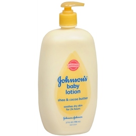 JOHNSON'S Shea and Cocoa Butter Baby Lotion 27 oz