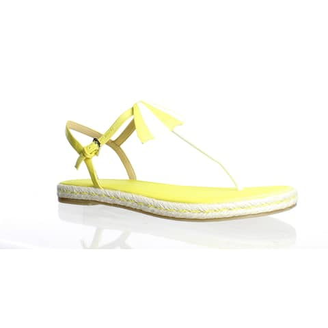 Katy Perry Womens The Shay Yellow Sandals Size 10
