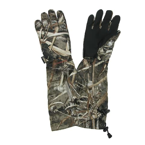 Manzella Men's Gore-Tex Realtree Max 5 Hunting Gloves with Extended Cuff