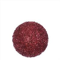 4.75 in. Burgundy Red Sequin And Glitter Drenched Christmas Ball