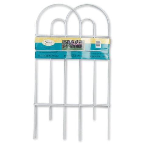 "Panacea 89300 Arch Folding Fence, White, 32"" x 8'"