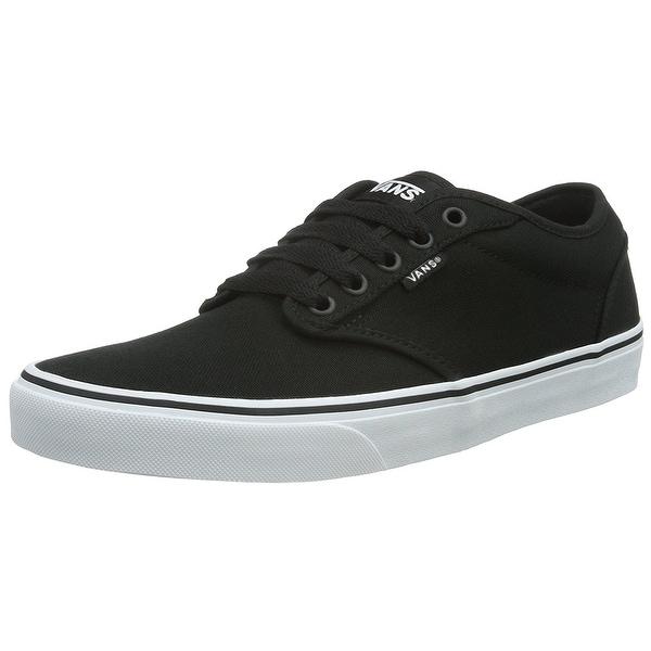 Shop Vans Women s Atwood Low (Canvas) Black White Skate Shoe 6.5 ... d4e007e54