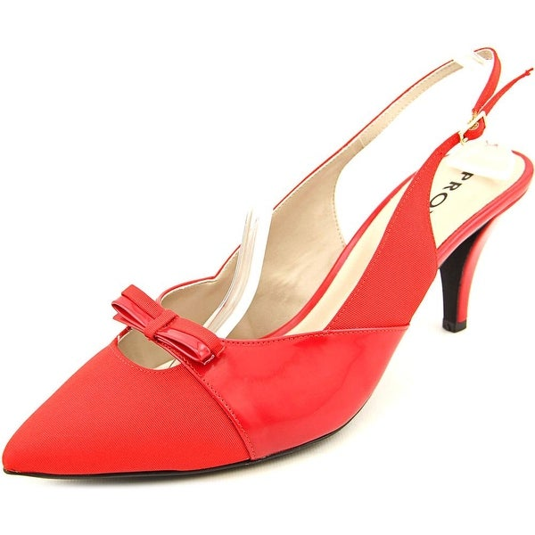 Proxy Carey Women Pointed Toe Synthetic Red Slingback Heel
