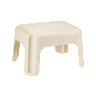 Rubbermaid 4200-87-BISQ Step Stool with 4-Skid Resistant Feet, Bisque