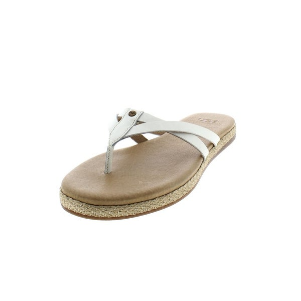 2d26353489e Shop Ugg Womens Annice Flip-Flops Leather Espadrille - Free Shipping ...