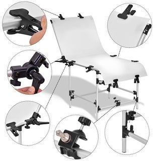 Costway Non-Reflective Still Life Shooting Table PVC Board Photo Studio Bench 51''x23''