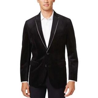 INC International Concepts Regular Fit Black Velvet Sportcoat Small S