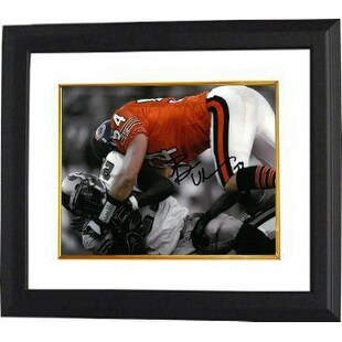 cheap for discount d5a8e 55889 Brian Urlacher signed Chicago Bears 8x10 Spotlight Photo Custom Framed  orange jersey in snow