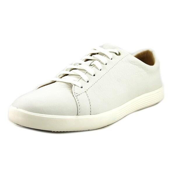 41ec74bd5b Cole Haan Grand Crosscourt II Women Round Toe Leather White Sneakers