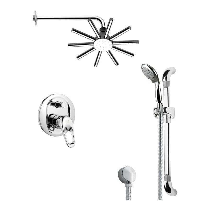 Nameeks SFR7084  Remer 2.5 GPM Multi Function Rain Shower Head with Handshower, Slide Bar and Rough In - Chrome