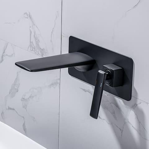 Wall Mounted Waterfall Single Handle Bathroom Sink Faucet