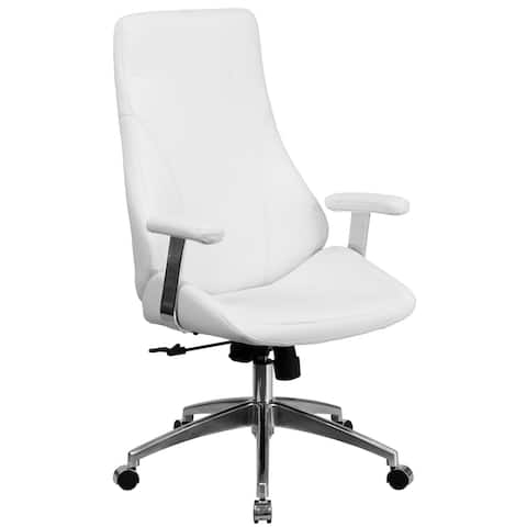 High Back LeatherSoft Executive Swivel Office Arm Chair