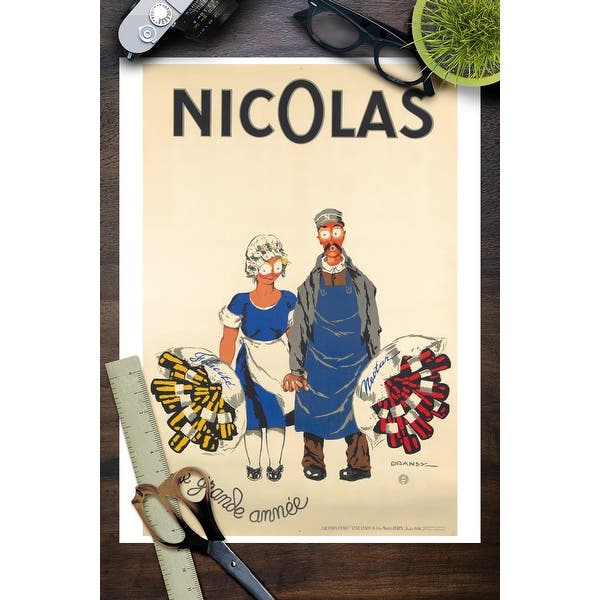 Nicolas Une Grande Annee Vintage Poster Artist Dransy France C 1930 Art Print Multiple Sizes Available Overstock 27935730