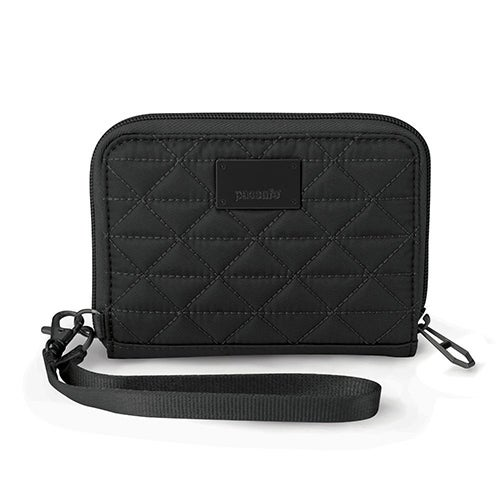 Pacsafe RFIDsafe W100-Black RFID Blocking Wallet w/ 4 Sideway Compartments