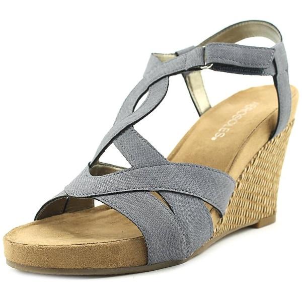 Aerosoles Wonderplush Women Open Toe Synthetic Blue Wedge Sandal