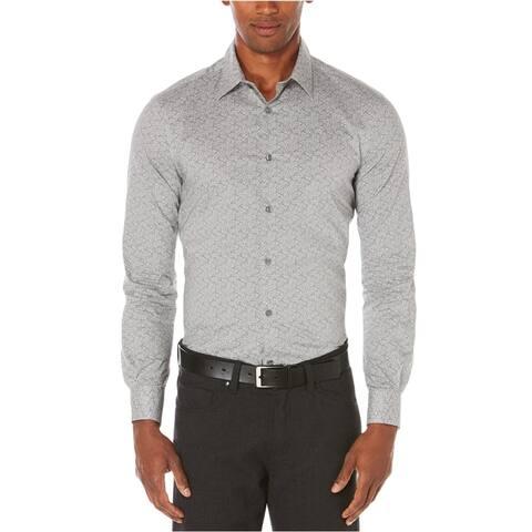 Perry Ellis Mens Paisley Long Sleeve Button Up Shirt