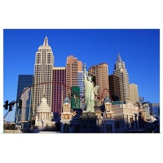 """New York New York Casino at sunrise, Las Vegas, Nevada"" Poster Print"