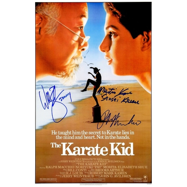Ralph Macchio William Zabka Martin Kove Cast The Karate Kid 11x17 Movie Poster wJohnny Sensei Kree