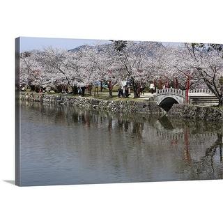 """Cherry Blossoms of Ogi Park, Ureshino, Saga, Japan"" Canvas Wall Art"