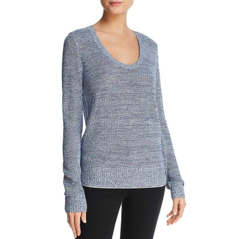 Theory Women's Lightweight Scoop Neck Pullover Sweater, Blue, Large