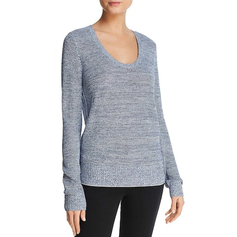 Theory Women's Lightweight Scoop Neck Pullover Sweater, Blue, Small